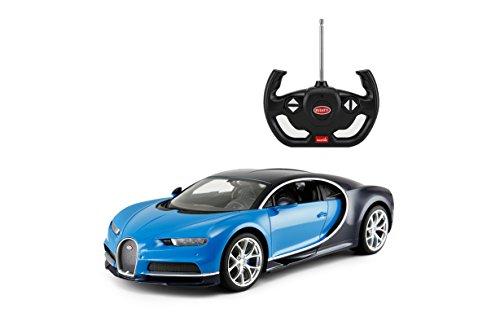 Rastar R/C Car 1:14 Scale Bugatti Chiron | Licensed Radio Remote Control 1/14 RTR Super Sports Car Model Blue