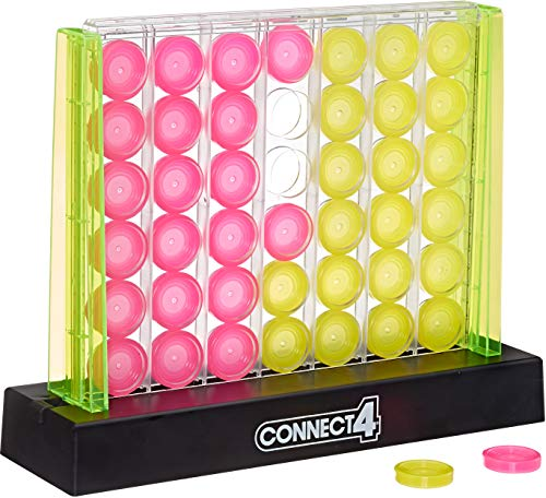 Hasbro Gaming Connect 4 Neon Pop Board Game Strategy Game for Kids Ages 6 & Up for 2 Players